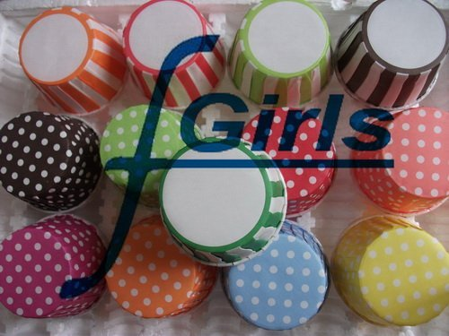1500pcs Mix design and color Round MUFFIN Paper Cake Cup Cake case dot stripe,free shipping