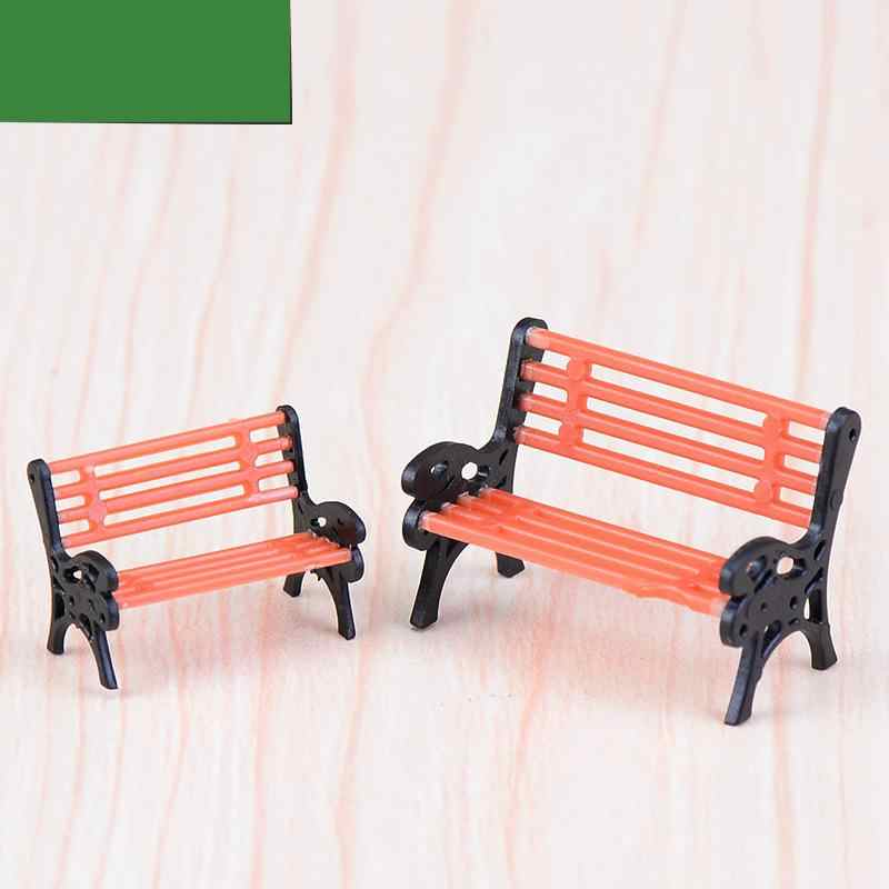 Park Chairs Stools Moss Micro Landscapes Meat Ornaments Creative Decorations Home Decor Miniature Garden Miniatures Figurines