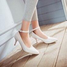 Europäischen Und Amerikanischen Mode Hochhackigen Sandalen Mit Dünnen, Spitzen Sexy 32-43 Wort Code Schuhe Schnalle Schuhe