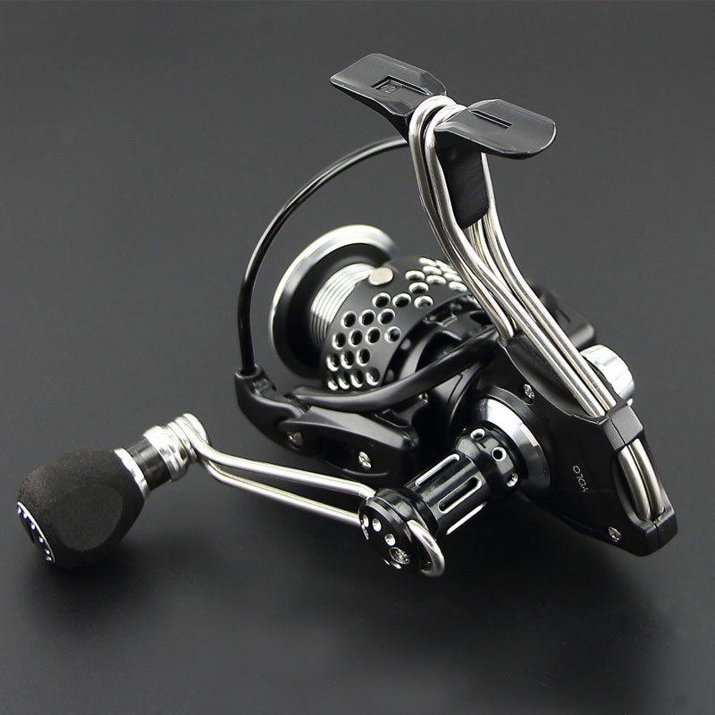 (Won the 2014 Best Design Award) salt water Iron Man 4000 series spinning reel fishing reel all metal materials 12+1 BB-in Fishing Reels from Sports & Entertainment