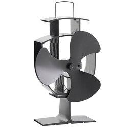 Бесплатная доставка дровяная печь экологический вентилятор-тепловое питание ультра тихий тройной лезвие камин вентилятор для эффективног...