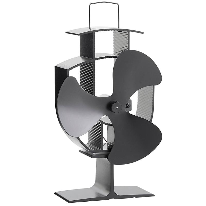 envo libre estufa de lea ecolgica chimenea de triple hoja de calor alimentado ventilador ultra silencioso