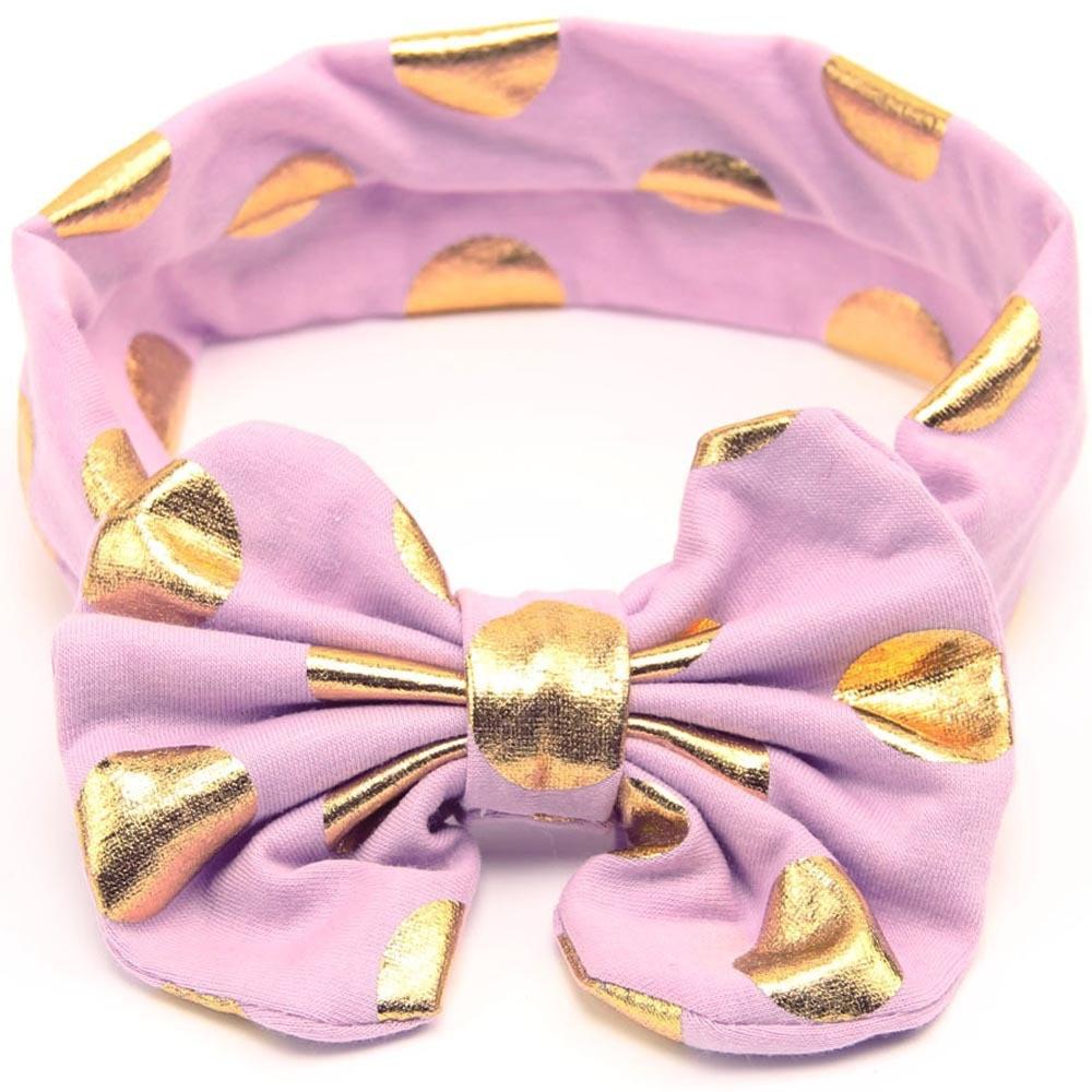 40 հատ / լոտ 2016 Նորածնի նորածնի համար տաք դրոշմակնիք Dot Bow Headband բամբակ գլխաշոր նորածնի համար