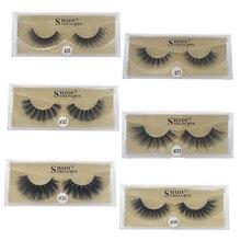 лучшая цена SHIDISHANGPIN 1Box Mink False Eyelashes Natural Long 3D Mink Lashes Hand Made 3D False Eyelashes Volume makeup full strip lashes