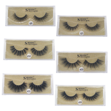 SHIDISHANGPIN 1Box Mink False Eyelashes Natural Long 3D Mink Lashes Hand Made 3D False Eye