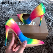 8 10 12CM High Heel Shoes Woman High Heels Pump Shoe Spring Autumn Sandal Boot Women Pumps Dress Wedding Shoes Patent Leather(China)