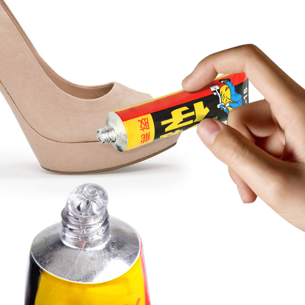 все цены на MTGATHER 18ml Super Adhesive Repair Glue For Shoe Leather Rubber Canvas Tube Strong Bond Hot Sale