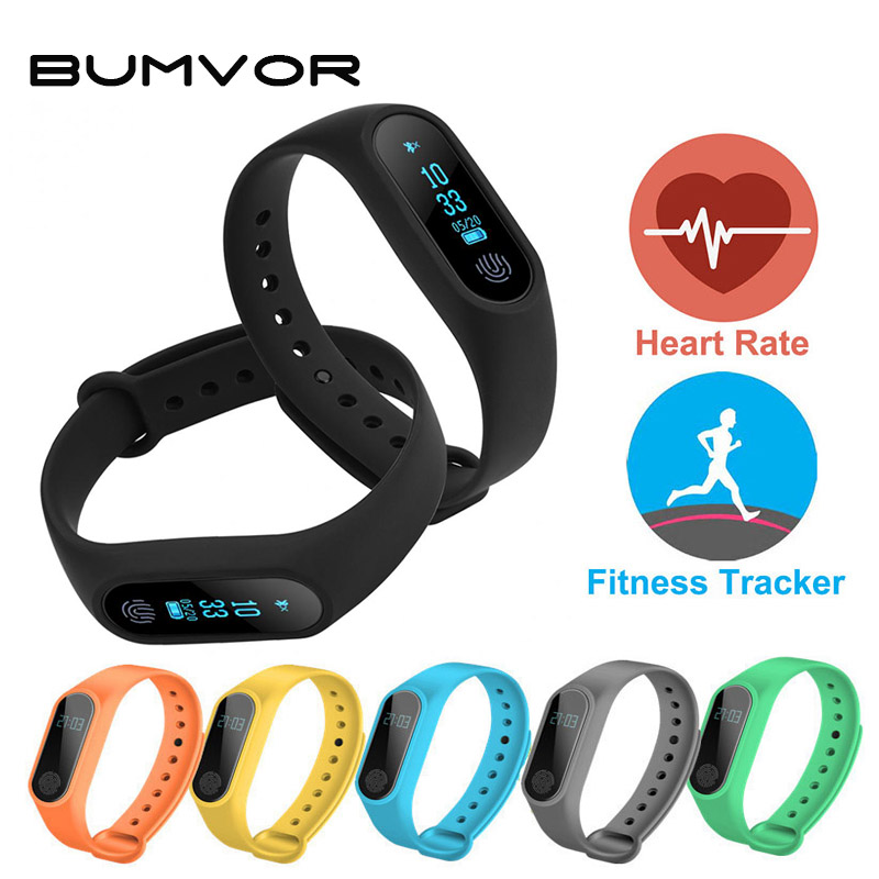 BUMVOR Children's Smart Wristband M2 Smart Bracelet Heart Rate Monitor Pedometer Waterproof Bluetooth For iOS Android