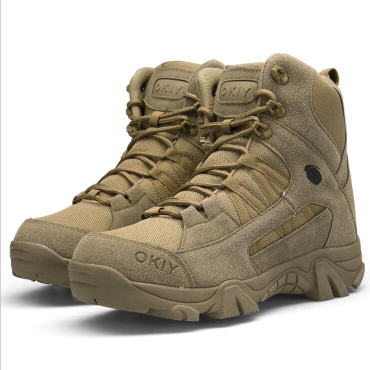 Outdoor Hiking Shoes Mens Professional Climbing Trekking Camping Hunting Shoe Man Waterproof Military Tactical Boots Men 39-46