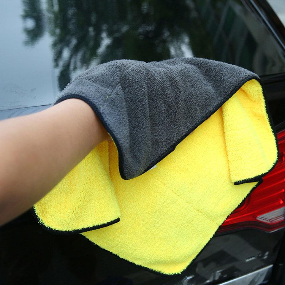 1pc 30*30/30*40/30*60 Car Wash Towel Microfiber Car Cleaning Drying Cloth Microfiber Washing Drying Towel Strong Thick Plush