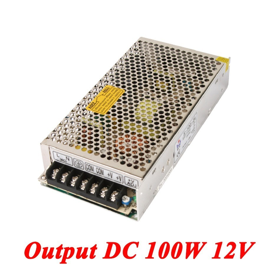 S-100-12 100W 12v 8.5A Single Output ac-dc switching power supply for Led Strip,AC110V/220V Transformer to DC,led driver SMPS meanwell 12v 350w ul certificated nes series switching power supply 85 264v ac to 12v dc