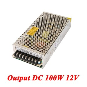 S-100-12 100W 12v 8.5A Single Output ac-dc switching power supply for Led Strip,AC110V/220V Transformer to DC,led driver SMPS
