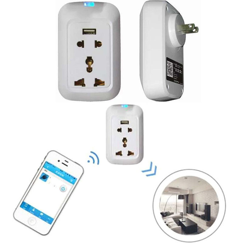 High Quality Wifi Wireless Remote Control Switch Timer Smart Power Socket US Plug 3Ports USB for iPhone iPad Practical Wholesale smart home power plug wifi socket strip wifi timing plug power strip 4 ports individual wireless remote control us plug