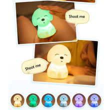 USB Rechargeable Night Light Lovely Colorful Cartoon Tapping Touch  Baby Bedroom Lamp