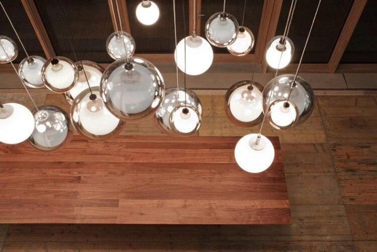 Lampade A Sospensione Vintage : Americano lampade a sospensione vintage vetro trasparente hanging