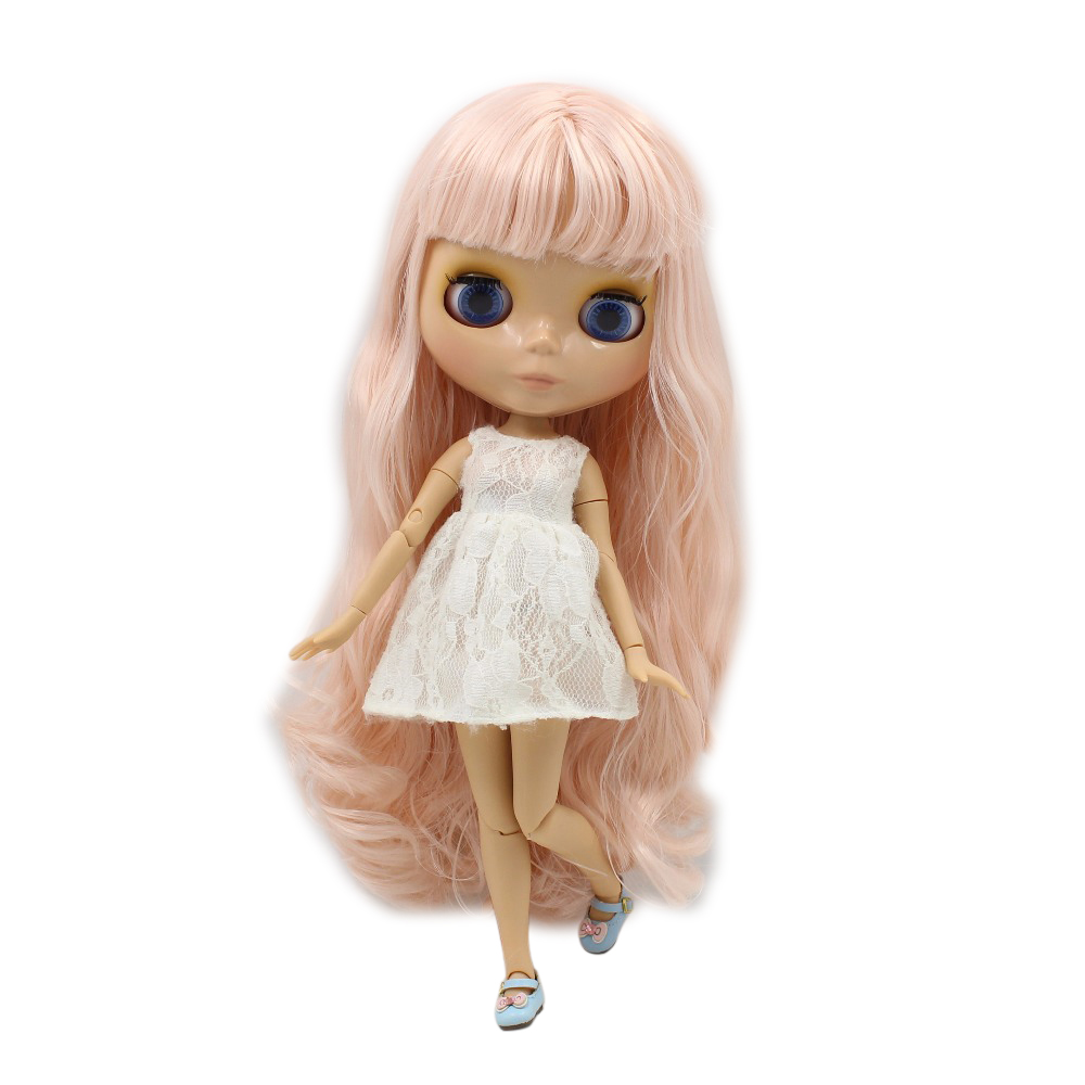 Free shipping factory blyth doll BL2352 Pale Pink hair JOINT body tan skin 1/6 30cm free shipping factory blyth doll joint body tan dark skin bald head 1 6 gift the scalp is loose the scalp is not assembled