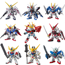 Original SD Gundam Model Cute Unicorn Sazabi Wing Zero Strike Freedom 00 Destiny Armor Unchained Mobile Suit Kids Toy стоимость