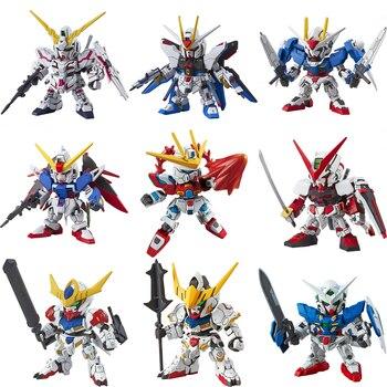 Original SD Gundam Model Cute Unicorn Sazabi Wing Zero Strike Freedom 00 Destiny Armor Unchained Mobile Suit Kids Toy daban 1 100 mg wing zero ew endless waltz xxxg 00w0 assembly model kit mobile suit not included display stand