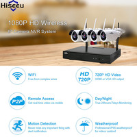 Hiseeu Security Video Surveillance Kit 1080P Wireless 4CH NVR CCTV System Wifi 2 0MP IR Outdoor