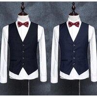Men's Suit Vest Casual Pure color Vest Slim Fit Luxury business Dress Waistcoat Vest for man