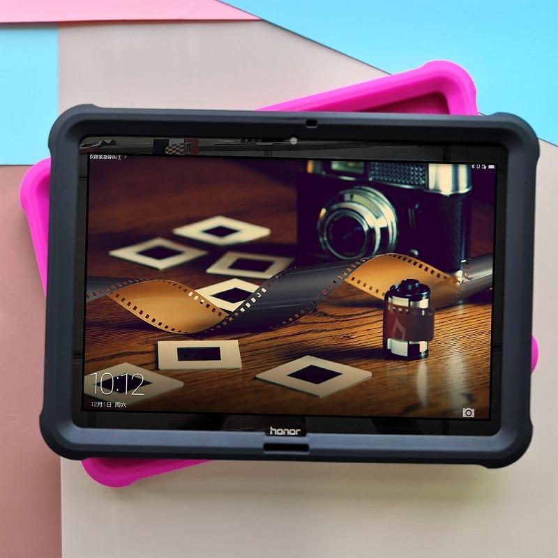 """Image 5 - Huawei mediapad t3 10을위한 mingshore 케이스 huawei t3 10 AGS L09 AGS W09 9.6 """"케이스를위한 튼튼한 실리콘 아이 shockproof 정제 덮개테블릿 & 전자책 케이스컴퓨터 및 사무용품 -"""