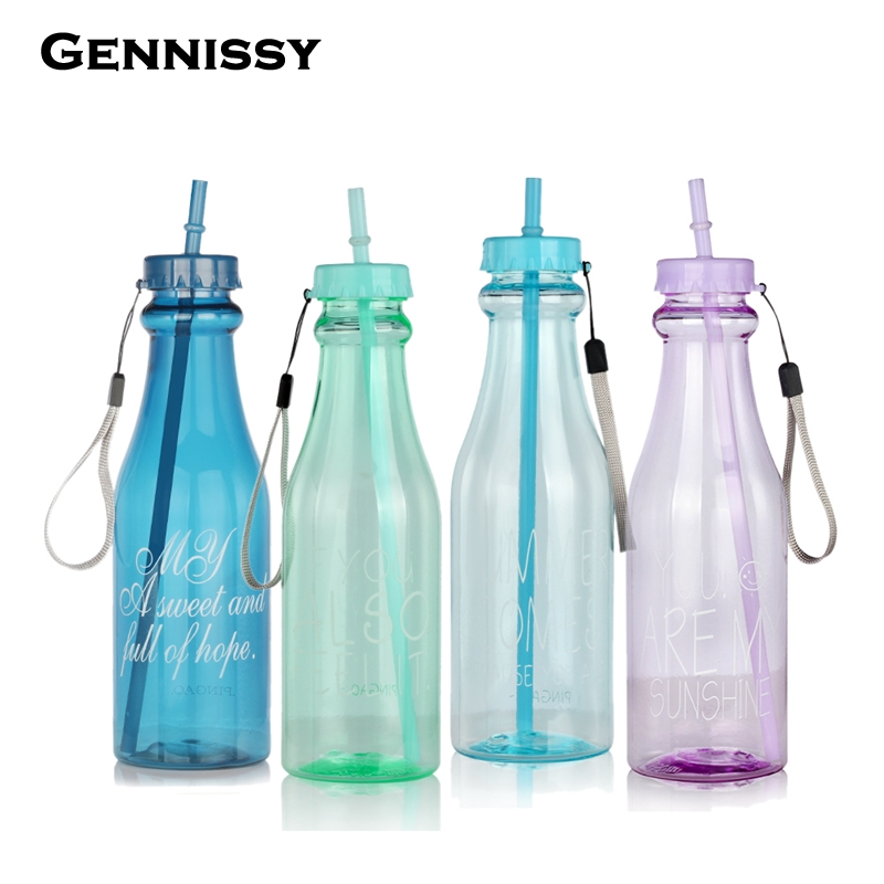 Gennissy 650ml fashion unbreakable water bottle plastic for Creativity with plastic bottles