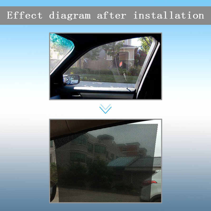 CHUKY, cubierta de parasol lateral para ventana de coche, escudo adhesivo estático, visor de la pantalla, negro para Toyota Corolla Avensis Rav4 c-hr Volkswagen VW