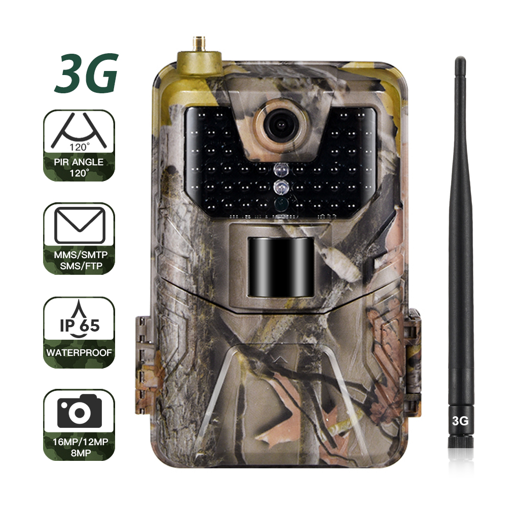 3G MMS SMTP SMS Hunting Trail Camera HC900G 16MP 1080P Infrared Cameras Cellular Mobile Wildlife Wireless Cams