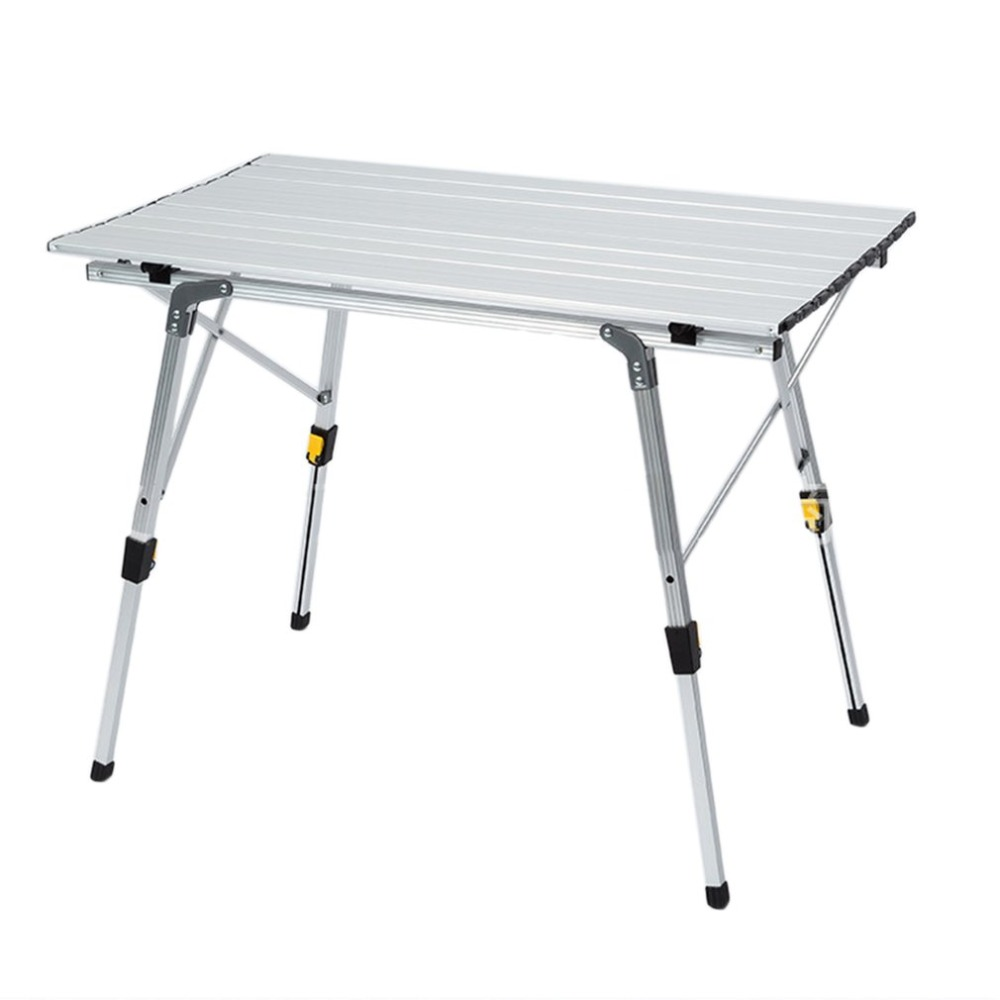 Portable Folding Camping Table Aluminum Alloy Height-Adjustable Rolling Table for Outdoor Camping Picnic NEW недорого