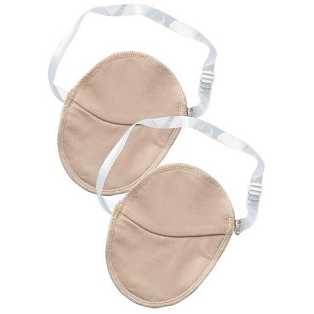 2 Pcs Underarm Sweat Shield Pad washable Armpit Sweat Absorbing Guards Shoulder Strap Skin Color 3