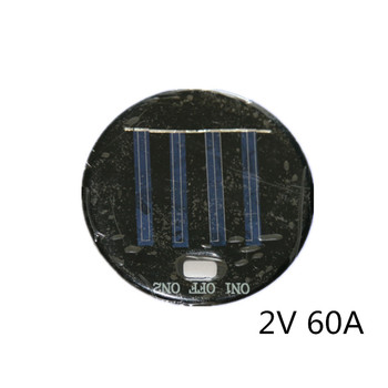 Polycrystalline silicon/Poly Solar Panel Round 77MM 2V 60A 0.12W with Switch Hole solar glue board Battery Accessories & Charger Accessories