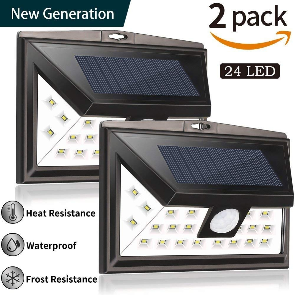 3 mode 24 LED Solar Outdoor Lighting Night Lampion Super Bright Security Motion Sensor Wall Lamp Waterproof IP65 Yard Light mpow 4pcs mini 10 led solar power lighting security waterproof outside wall panel lampion fence garden deck yard led night lamp
