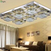 Modern Double Mirror Steel Led Chandelier Lighting Crystal Living Room Led Ceiling Chandelier Lights Bedroom Chandelier Fixtures
