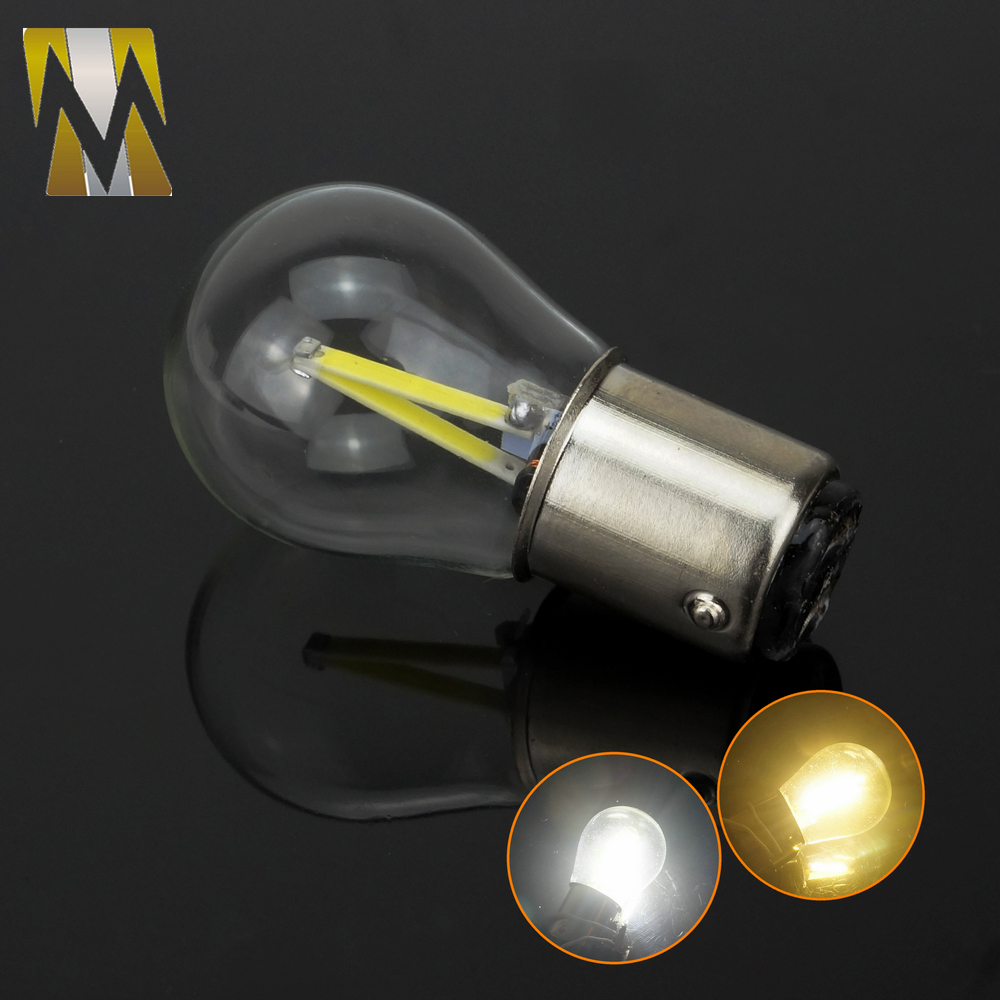 Newest P21W LED Ba15s 1156 Led Filament Chip Car Light Auto Vehicle Reverse Turning Bulb Lamp DRL White 12V meziere wp101b sbc billet elec w p