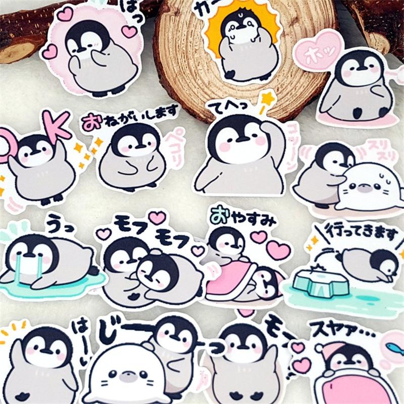 40 pcs Homemade cute penguin facial expression Home decor on laptop sticker decal/ Decorative scrapbooking / DIY stickers