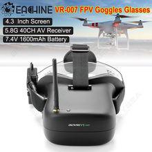 จัดส่งฟรี! E ACHINE VR-007 5.8กรัม40CH HD FPV VRแว่นตาแว่นตาวิดีโอ4.3นิ้วที่มีแบตเตอรี่
