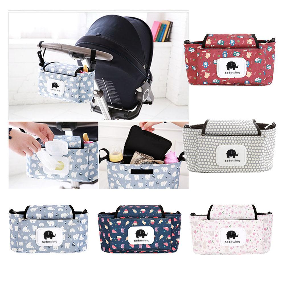 Portable Baby Stroller Bag Nappy Diaper Carriage Hanging Basket Storage Organizer Stroller Accessories