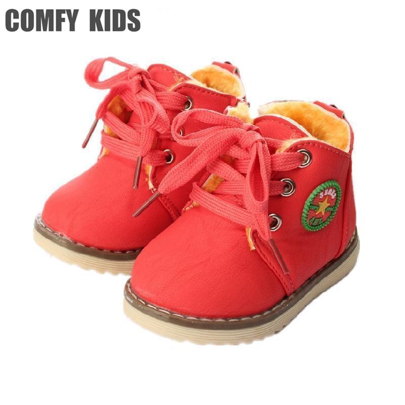 Rahat çocuklar moda çocuk kar botları ayakkabı erkek sneakers kış çizmeler bebek kız kar çizme erkek kalın sıcak çocuklar ayakkabı toptan