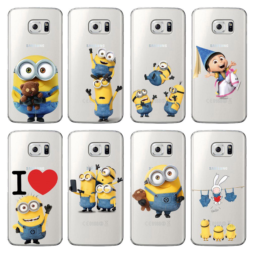 timeless design a8923 9456b US $1.49 |Aliexpress.com : Buy funny Cute cartoon Minions Case For Samsung  Galaxy S6 S7 EDGE S8 S9 Plus note8 note 9 unicorn clear silicone Coque ...