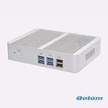 Free shipping Latest Celeron N3150 Quad core Fanless X86 Mini pc Qotom-M150S Dual RJ45 Home router computer server