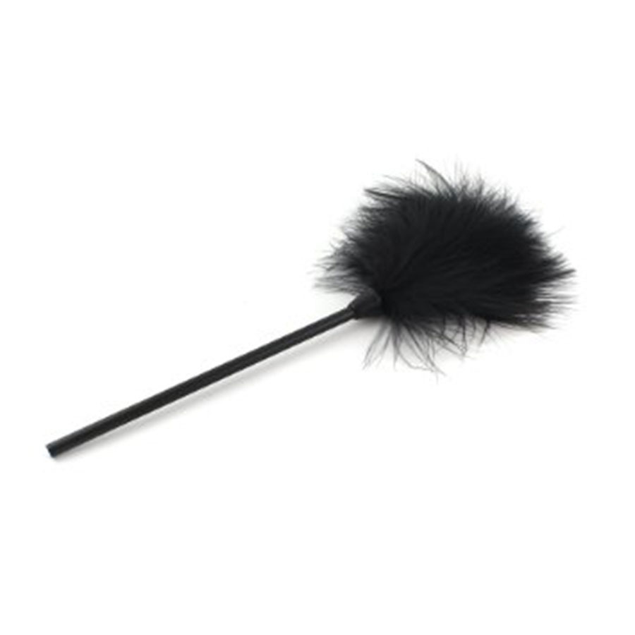 New Black Feather Tickler Kinky Naughty Bondage Fancy <font><b>Dress</b></font> Up Whip <font><b>Spanking</b></font> Aid Toy Sex Products For Couple SM Appliance image