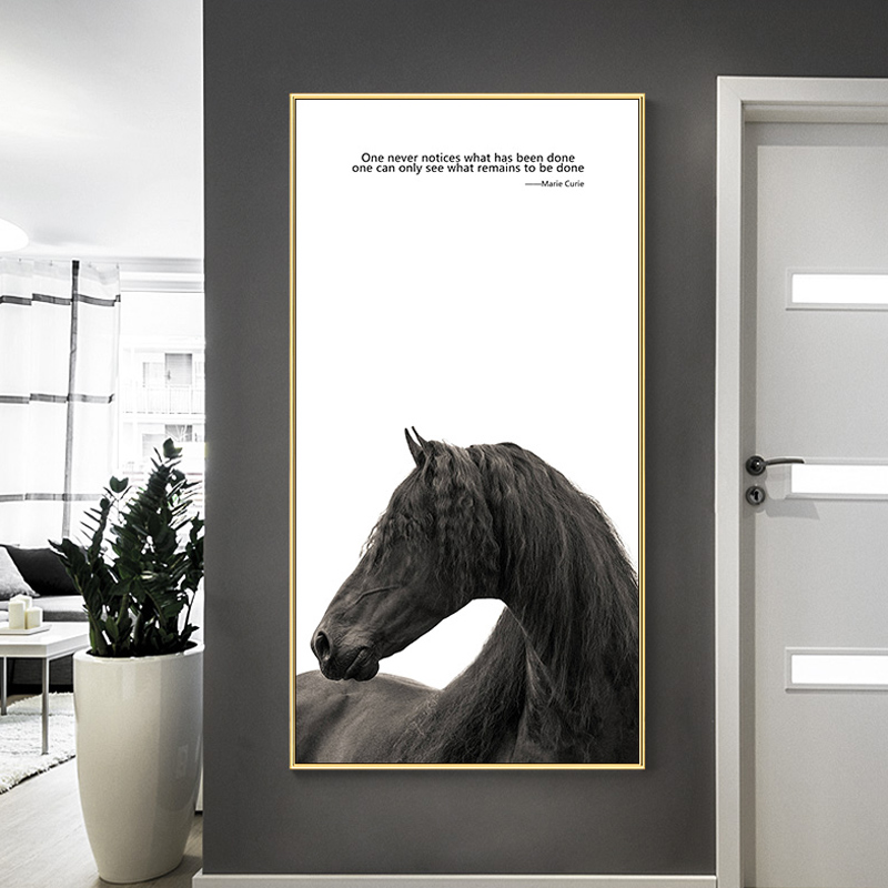 Nordic style industrial deco pictures black and white horse posters and prints cuadros decoracion life is strange deco home in painting calligraphy from