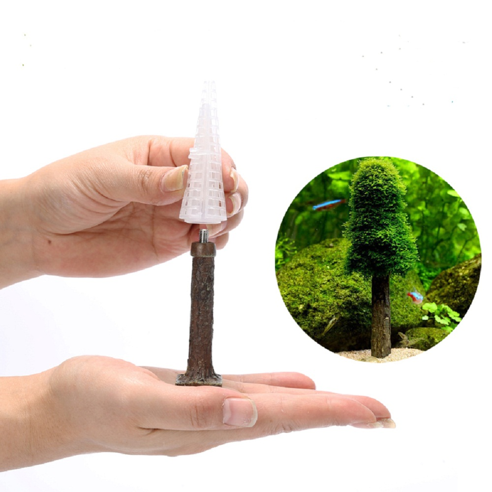 Aquarium Simulation Moss Christmas Tree Plant Grow Fish Tank Decoration-in Cleaning Tools from ...
