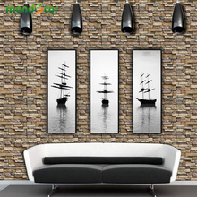 купить Retro Stone Brick Wallpaper Roll Self Adhesive Wall Sticker TV Background Living Room Decals PVC Waterproof Bedroom Home Decor по цене 650.66 рублей
