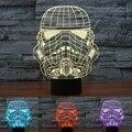 2017 de Star Wars Stormtrooper Bebê Luz da Noite Colorido Gradiente Candeeiro de Mesa de Iluminação LED do Sensor de Toque 3D Home Decor 7 Cores