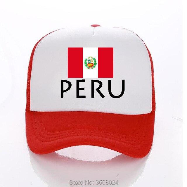 52072c5c383 2018 Peru Flag Caps Adult Blue Football Fans Trucker Cap Summer Baseball Hat  PERU Country flag Snapbacks For Men Women child