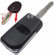2 Кнопки пустой изменения Флип Складные Дистанционного Ключа Автомобиля случае shell Stying Для Mitsubishi Outlander С Правой Лопатки S534 С логотип