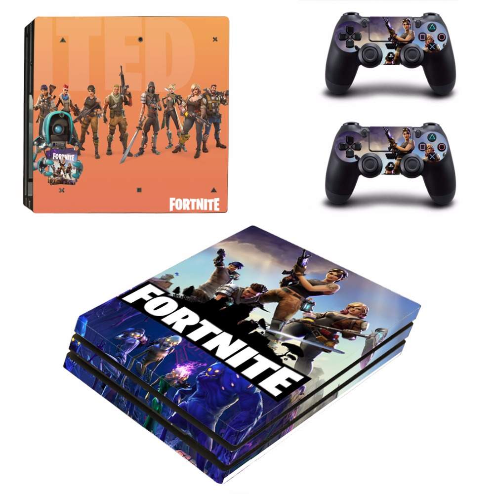 ps4 pro fortnite kozhi stikery chehol dlya sony playstation 4 pro konsoli i kontrollery kupit na aliexpress - playstation 4 pro fortnite