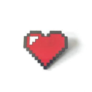 Значок брошка игры Undertale металлический