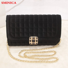 luxury designer women Shoulder bags velvet lattice female fashion small chain day clutch bag casual Crossbody Bags Messenger Bag